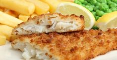 Homemade Fish and Chips with Tartar Sauce Fish Recipes, Seafood Recipes, Dinner Recipes, File De Panga, Fish Dishes, Main Dishes, Breaded Cod, Healthy Foods To Eat, Healthy Recipes
