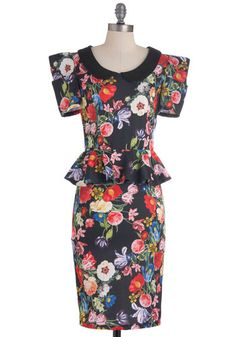 Work with Me Dress in Floral, #ModCloth