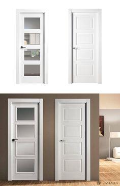 Puerta de Interior Blanca   Modelo Gorky de la Serie Lacada de Puertas Castalla…