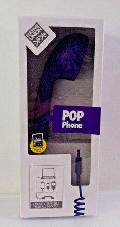 PURPLE POP PHONE HANDSET BNIB. Just plug into your iPhone gadgets. NATIVE UNION.