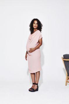 Koka Mama Drape Dress Maternity Style, Maternity Fashion, Draped Dress, Peplum Dress, Dresses For Work, Collection, Maternity Styles, Pregnancy Fashion, Peplum Dresses