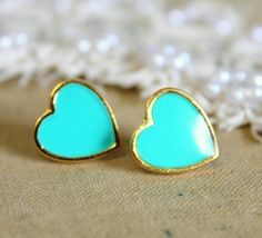 tiffany blue heart earrings