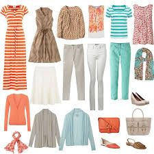 Image result for capsule wardrobe for spring colouring