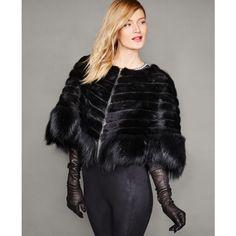 Gloves Fashion, Fur Fashion, Leather Fashion, Womens Fashion, Fur Cape, Cape Coat, Elegant Gloves, Black Leather Gloves, Fabulous Furs
