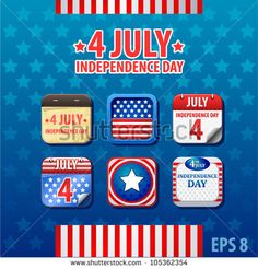 vector web app icon Independence day 4th of July