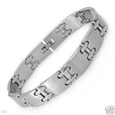 """Mens 8"""" Stainless Steel Men's Link Bracelet $22.50"""