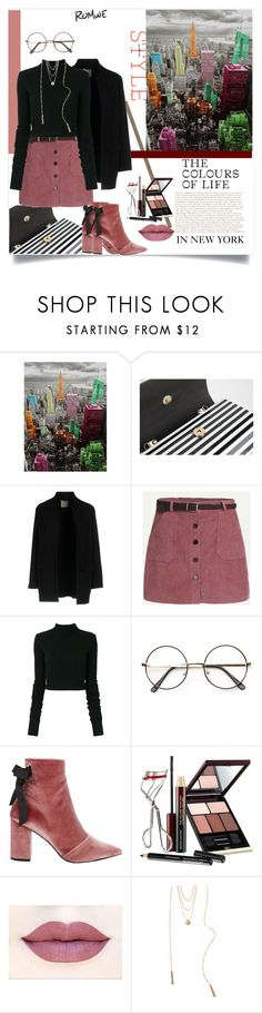 """""""The Colours of Life In New York"""" by tattooedmum ❤ liked on Polyvore featuring Pinko, Faith Connexion, Robert Clergerie, Kevyn Aucoin, South Moon Under, romwe and contestentry"""
