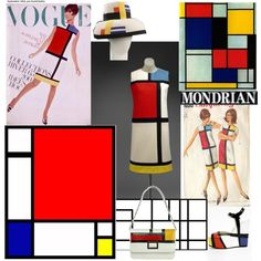 Piet Mondrian by vilen on Polyvore featuring polyvore, fashion, style, Yves Saint Laurent, Christian Louboutin, H.I.P., Forum and clothing