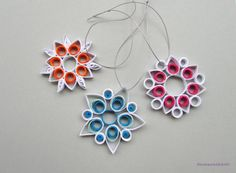 Quilling Christmas Home Decoration Set of 3 by GermanistikArt, $15.00