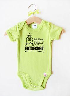 Babybody mit Namen - Rakete in Grün Names, Nice Asses