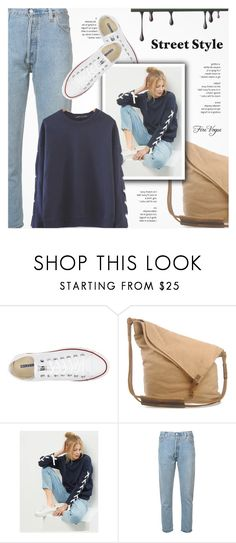 """Street Style - Firevogue.com"" by novalikarida ❤ liked on Polyvore featuring Converse and RE/DONE"