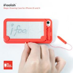 The iPhone cover that brings back Etch-a-sketch and Magna Doodle memories! Now you can save your battery by jotting down important notes on the back of your iPhone with the iFoolish Magic Drawing iPhone case.    COSTS: $24