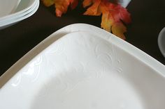Embossing detail on Boutique Cherish Dinnerware by Corelle