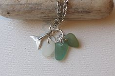 Whale seaglass necklace via Etsy.