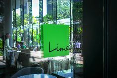 Lime provides a calm and tranquil atmosphere for patrons throughout their meal.
