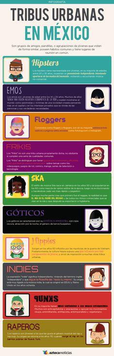Tribus urbanas en México #infografia