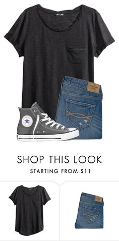 """Casual Outfit"" by twaayy ❤ liked on Polyvore featuring H&M, Abercrombie & Fitch and Converse"