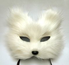 white fox mask feather mask/ photobooth idea