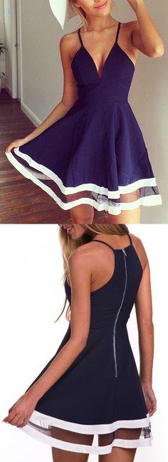 Navy Minimal Embrace Dress