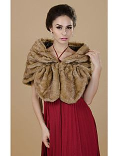 Charming Short Sleeve Faux Fur Party/Casual Shawls(More Colo... – CAD $ 24.36