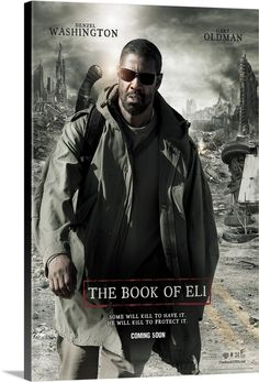 Large Solid-Faced Canvas Print Wall Art Print entitled The Book of Eli - Movie Poster