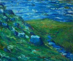 """Impressionist Expressionist Landscape Oil Painting by Simon Bramble 24""""x20""""  #BrambleArt"""