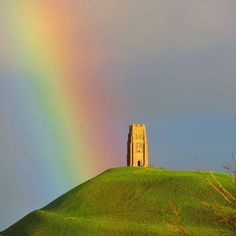 Glastonbury Tor 🌈 - it's thanks to your help we can care for this place steeped in history and legend. Glastonbury England, Glastonbury Abbey, Medieval Life, Old Farm Houses, Beltane, British Isles, Historical Sites, Beautiful Images, Places To See