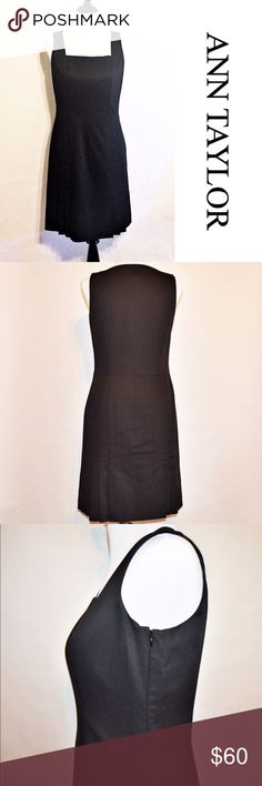"""NWT Ann Taylor Black Dress NWT Ann Taylor Black Dress Shell: 69% Rayon / 29% Polyester / 2% Spandex  Lining: 100% Acetate  NWT. No rips or stains. Pleated bottom. Side zipper. Measurements taken via flat lay.  Measurements Size 6 Petite-Chest:17.5 across / 35"""" around, Length:37""""  🔆Bundle 2 items = 10% OFF 🔆Bundle 3 or more = MAKE OFFER Ann Taylor Dresses"""