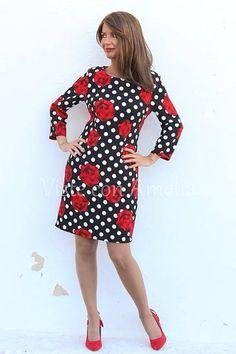 """Más looks para tus eventos. Enamórate de nuestro #vestido """"Berta"""". Dos estampados.... dos maravillas.  ➡Tallas S, M, L y XL  ➡42,99€ #modaprimavera #modamujer #vitsteconamelia"""