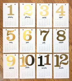 DIY 2016 Desk Calendar project by mambi Design Team member Janna Wilson | me & my BIG ideas