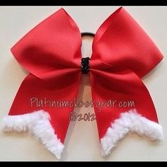 christmas cheer bows – would be cute for the holiday show | best stuff