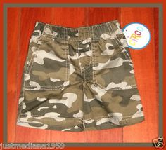 NWT - Circo Baby Boys Camouflage Shorts - Size 6 months - Sold May 4, 2013