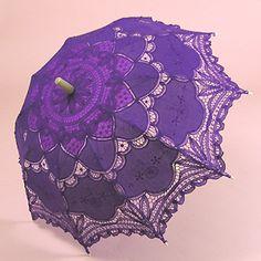 a Purple Umbrella Parasol! The Purple, Purple Rain, Purple Umbrella, Under My Umbrella, All Things Purple, Shades Of Purple, Purple Stuff, Lace Umbrella, Mauve