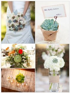 More Succulent Ideas - see more inspiration at diyweddingsmag.com #diywedding