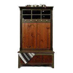 Indoor Entryway Benches Westmoreland Woodworks New England Hall Tree with Storage Bench - Hall Tree Storage Bench, Hall Tree Bench, Entryway Storage, Entryway Furniture, Hall Trees, Furniture Ideas, Storage Benches, Studio Furniture, Shoe Storage