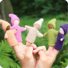 Gnome Finger Puppets | Palumba, offering hand puppets, doll play and finger puppets