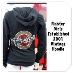 Take a look at our product of the week...Fighter Girls Established Vintage Hoodie.  Shop fightergirls.com. The 1st & original in women's MMA. Best quality & dedicated to the female warrior. Http://www.fightergirls.com/shop. #fightergirls #wmma #womensmma #fightwear #sportswear #training #crosstrain #BodyCombat #grappling #kickboxing #jiujitsu #gym #circuttraining
