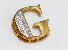 Balmoral Jewelry 10k Gold And Diamond Letter G Pendant
