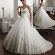 wedding dresses ball gown lace - Google Search