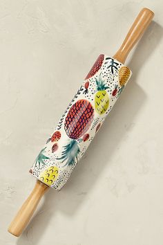 Anthropologie EU Rudy Fruit Rolling Pin