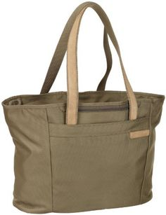 Briggs & Riley Large Shopping Tote,Olive,13x17x7.3 Briggs & Riley. $149.00. Simple as that® lifetime warranty even covers airline damage.. 2520D Ballistic Nylon. Roomy main compartment with multiple organization pockets. Removable waterproof pocket for toiletries and water bottle compartment. Dual purpose slip-through back pocket allows bag to slide over the Outsider® handle for easy transport. SpeedThru? pocket for hassle-free airport security checks