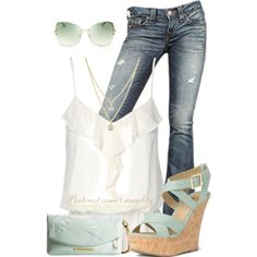 """Seafoam Summer"" by casuality on Polyvore"