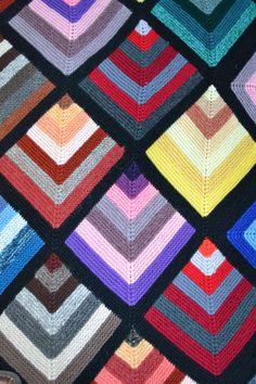 Mum's Blankets , – knitting blanket patchwork Beanie Knitting Patterns Free, Crochet Blanket Patterns, Hand Knitting, Crochet Quilt, Crochet Cushions, Knitted Afghans, Knitted Blankets, Mitered Square, Knitting For Charity