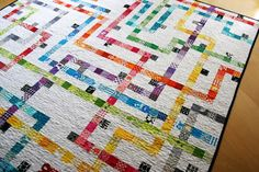 Tokyo Subway Quilt. This blows my mind!