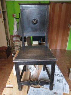 Incollaggio di una sedia: finita!