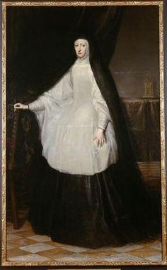 Archduchess Maria Anna Queen of Spain as a widow - Juan Carreno de Miranda