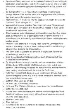 the marauders - sirius black - christmas part 1