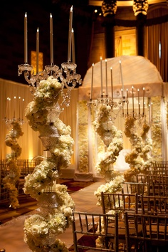 Opera Themed Wedding by David Tutera . exquisite , but it needs color . Red would be beautiful with this .