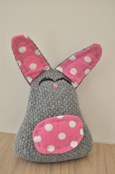 ręcznie szyty króliczek #handmade #królik #gift