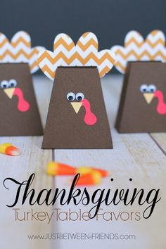 Thanksgiving Centerpieces and Turkey Favors